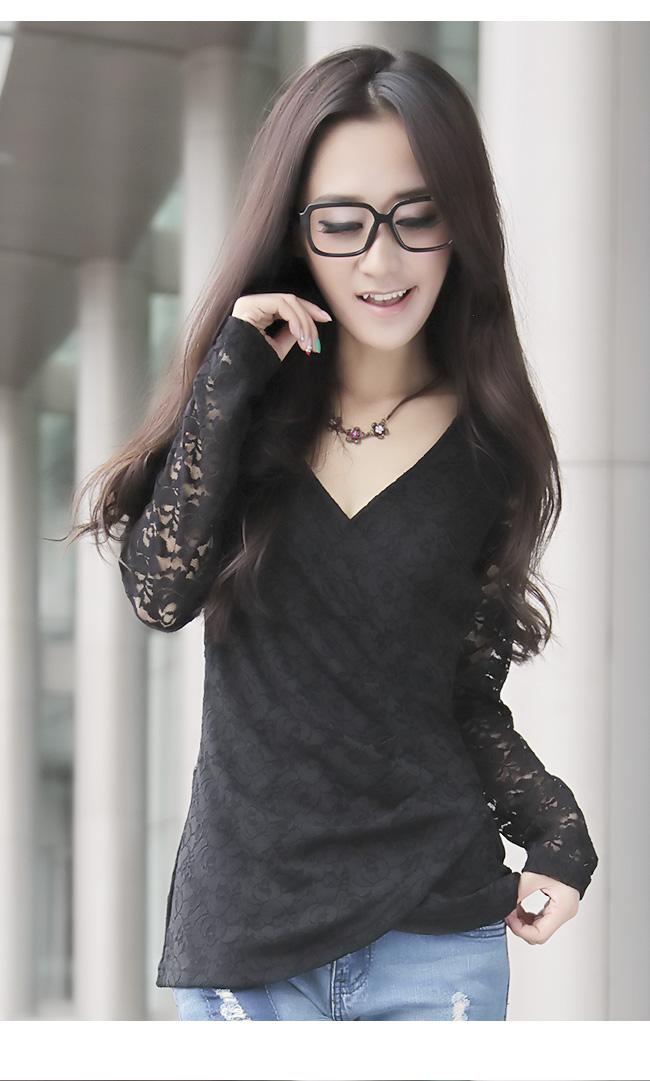 批发采购女式针织衫-0772#2012秋冬季女装长袖蕾丝衫